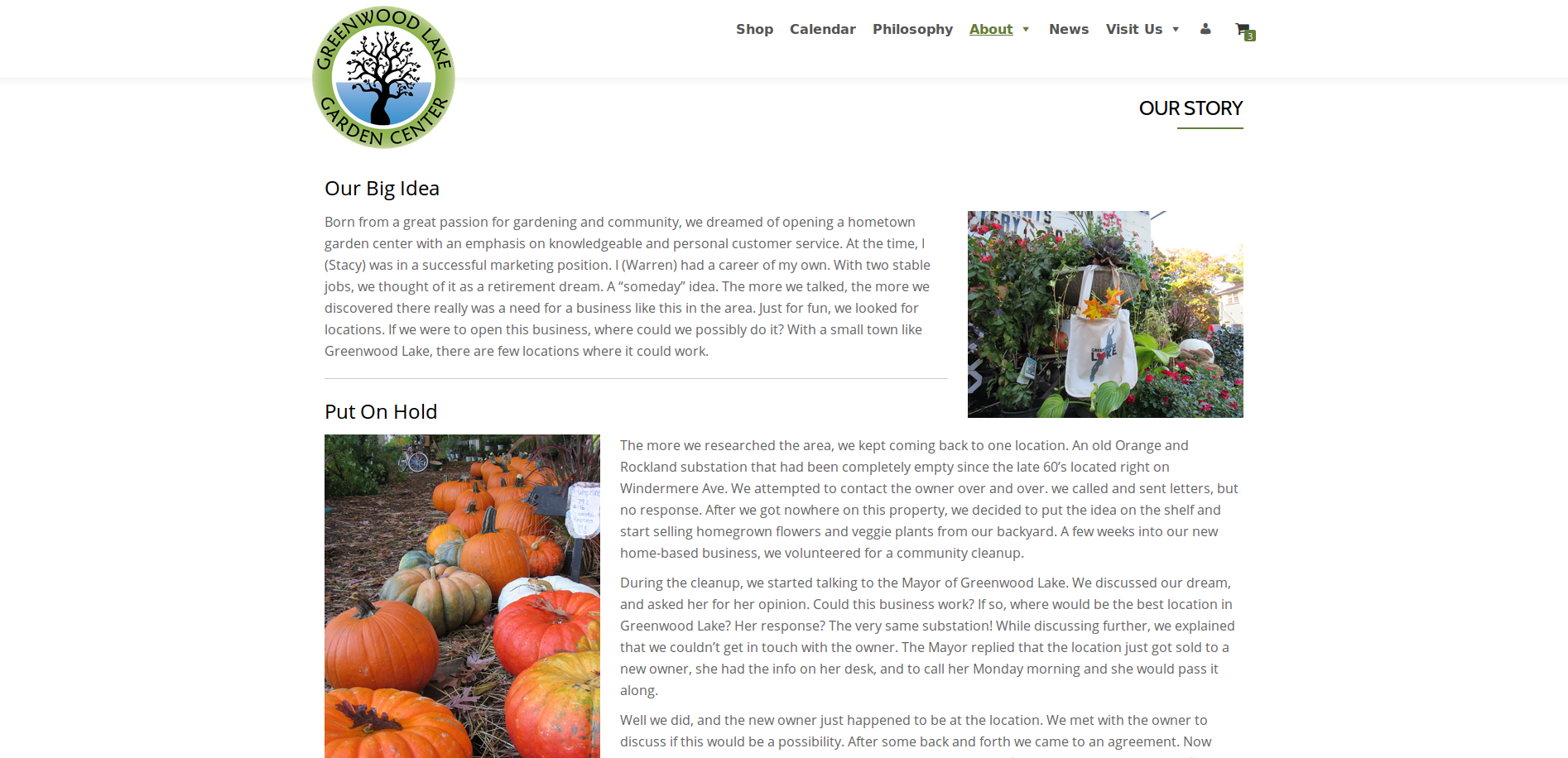 New Website Our Story Page