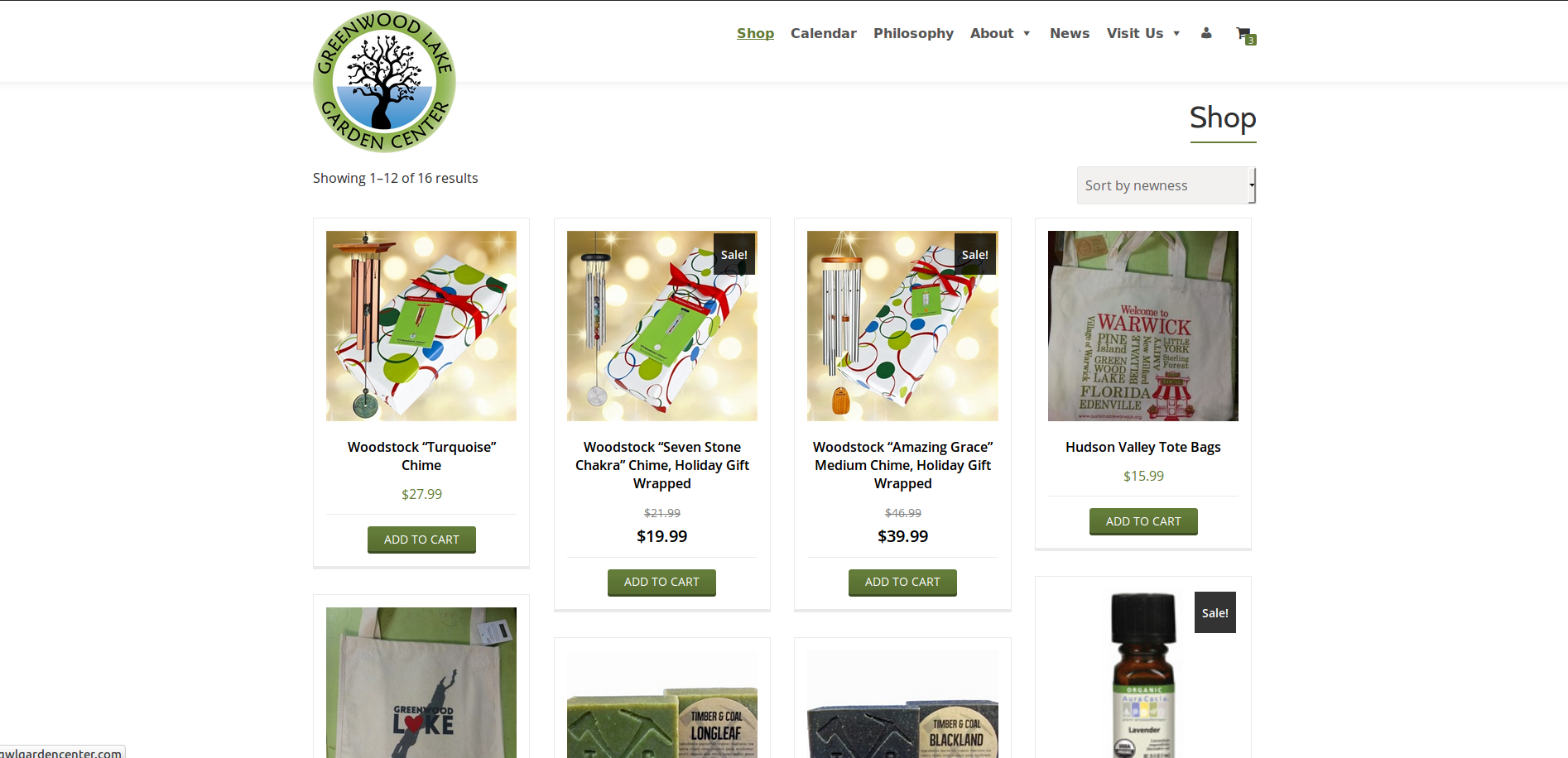 New Website Shop Page