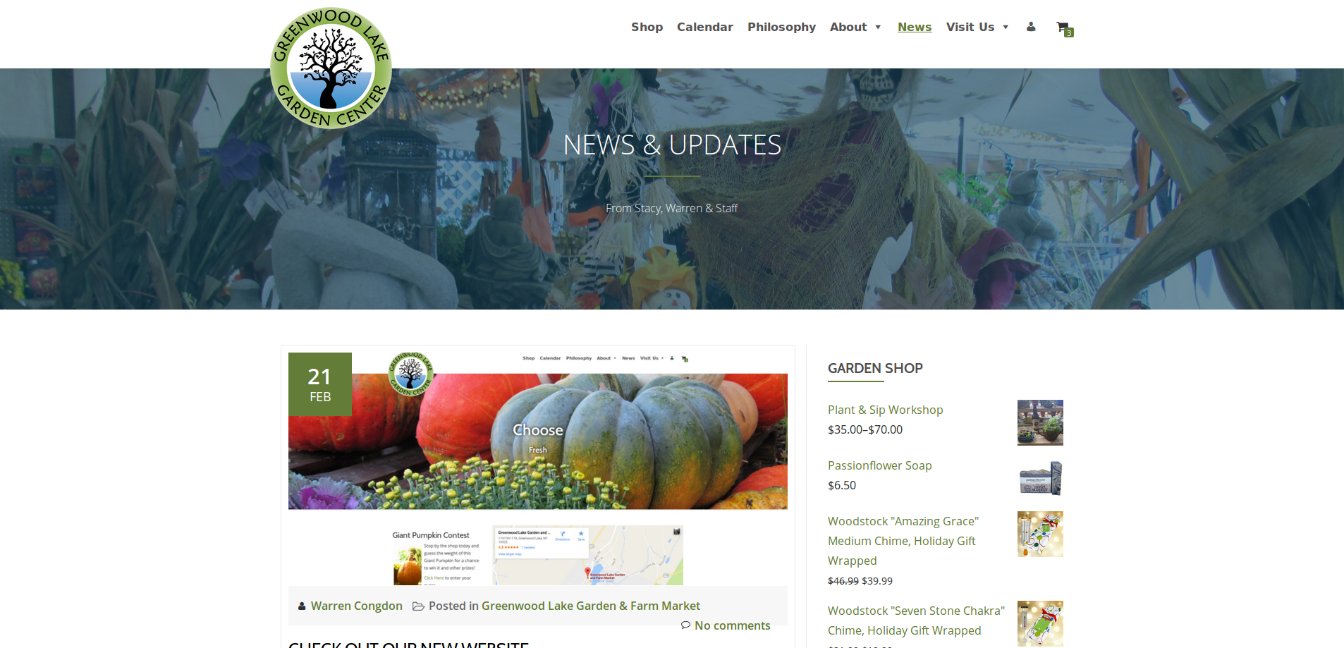 New Website News Page